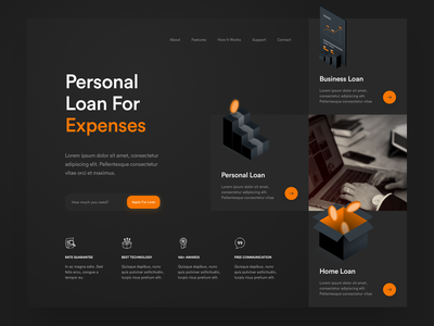 Personal Loan branding isometric illustrations logo icon app icons ux web ui design illustration