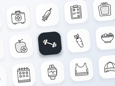 Icons night branding isometric illustrations logo icon app icons ux web ui design illustration