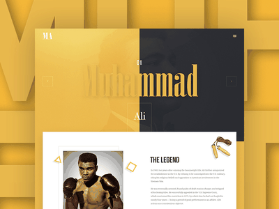 Muhammad Ali - Web design ui illustration greatest the ali muhammad website design web