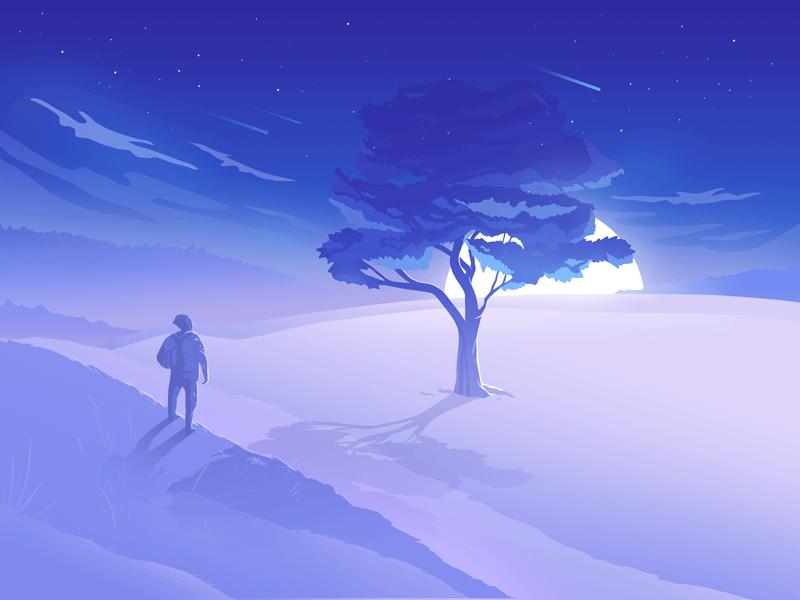 Tree Of Life illustration design life alone wonderer traveler tree