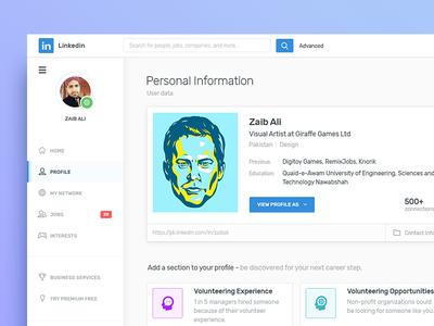 Profile Redesign walker paul illustration ali zaib avatar profile redesign linkedin