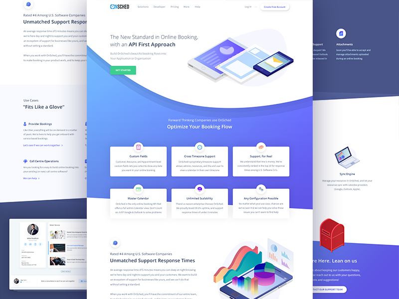 Onsched illustrations icons app design web ux ui isometric