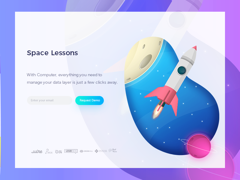 Space logos workspace ux ui app design web icons illustration