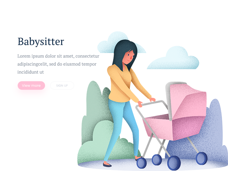 Babysitter Illustration