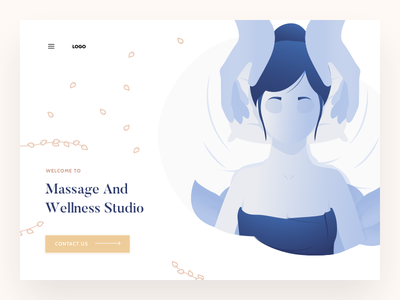 Massage design illustration