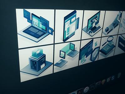 Cyber Security Illustrations web design illustration