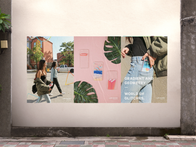 Poster Campaign | Land Matrix brand simplicity gradients geometry fashion glitches modern urban outfitters phone cases mockup poster wheatpaste