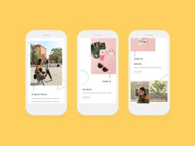 Land Matrix | Mobile Website product design fashion uiux photography phone cases geometric simple screens mobile website land matrix