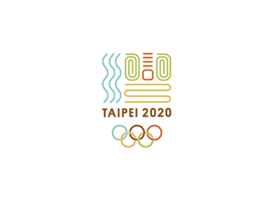 Taipei Olympics lines graphic brand colorful sports olympic ring olympics taipei logo branding