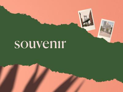 Souvenir: A product cinema 4d polaroid app souvenir paper ripped visuals branding product