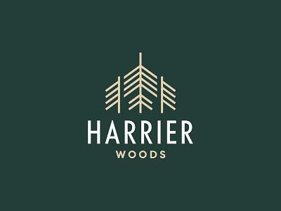 Harrier Woods adobe illustrator logotype tree logo tree nature logo nature logo design logo brand identity brand design branding