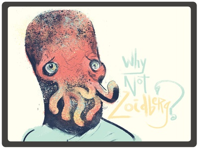 Why Not Zoidberg? illustration digital concept drawing photoshop black  white science nerd space doctor zoidberg futurama cartoon