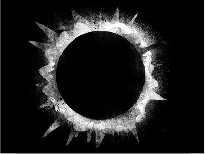 Eclipse 1 illustration digital concept drawing photoshop black  white science nerd space astronomy stars cosmos