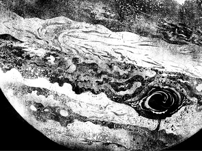 Jupiter - WIP 2 illustration digital concept drawing photoshop black  white science nerd space astronomy planet cosmos jupiter
