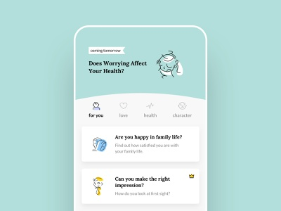 Life Booster app illustration design ui typography clean app