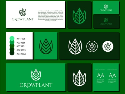 GROWPLANT corporate identity branding illustration logo branding logo logo creator minimal logomaker minimalist logo business logo design