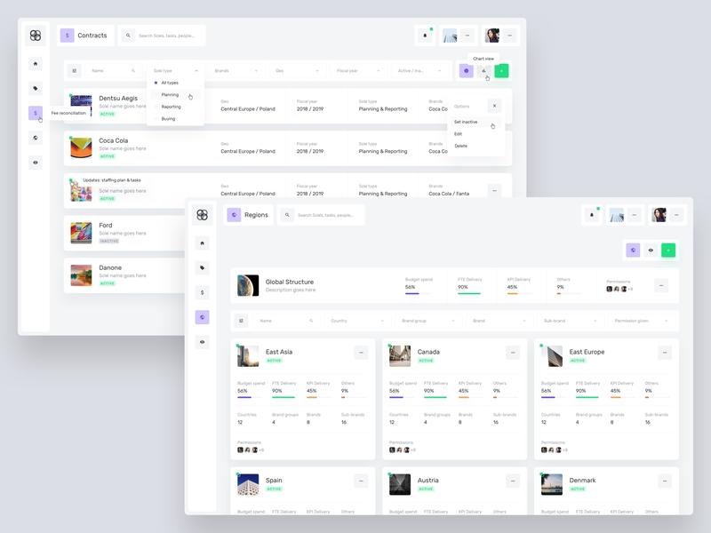 Desktop App — Work Screens