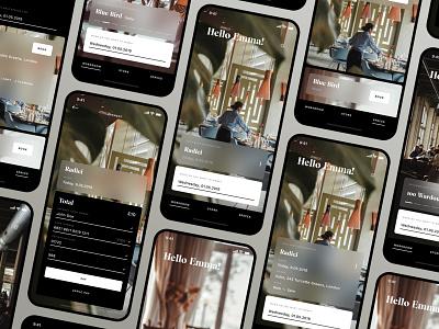Workroom App — Redesign restaurant lifestyle app design apple iphone x minimal ios ux design ui app