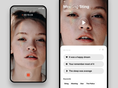 Dreams — Recording / Dream app design dashboard iphone x ios ux minimal design ui app