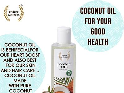 oil ad poster for endure wellness branding brochure design photoshop illustration design designideas graphicdesign