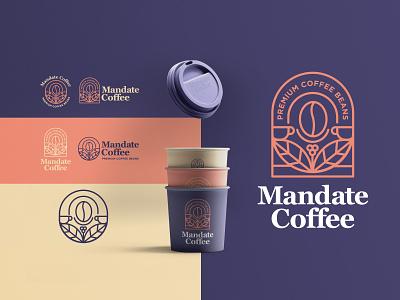 MANDATE COFFEE graphic design logotype logo design café coffee shop illustration vector beans cafe logo cafe coffeelogo coffee minimal branding design logo