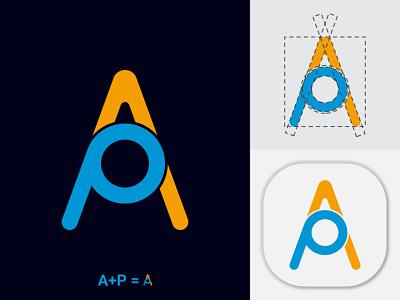 AP Letter Logo Design design modern branding logo design brand identity letter logo logo ap letter logo branding