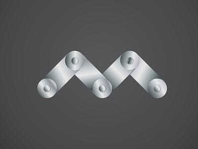 M Metal letter logo logotype logos m letter logo goldenratio metal m logo letter logo vector branding logo design logo brand identity design branding