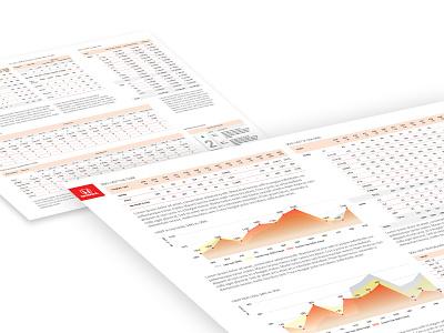 Financial Reports PDFs type flat web ui typography vector minimal illustration fiat design branding busines graphic  design adobe illustraor print ad financial pdf charts