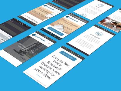 Promotional Mobile Website For Booking Software ideas ui  ux design sketch busines minimal fiat design branding adaptive responsive mobile app mobile app design us mobile ui booking app