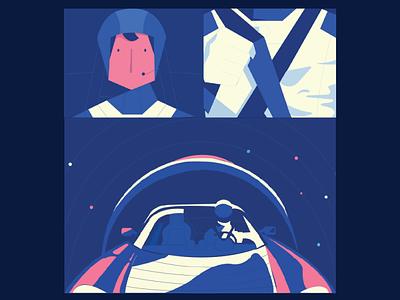 Space illustration unique vector versatile modern ux ui minimal illustration flat design