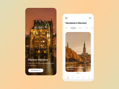 Travel App Ui Design clean typography uiux ux ui flat vector design versatile minimal unique modern