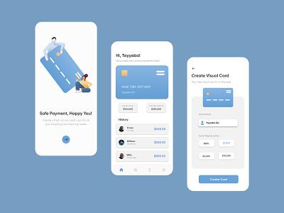 Banking App Ui Design app typography mobile app banking app clean uiux ux ui illustration vector design versatile minimal unique modern