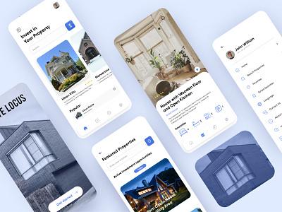 Haute Locus App Design clean design minimal modern convrtx mobile app ux ui uiux interface app rent investment property home