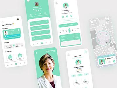 DentistNow App Design convrtx mobile ui mobile app design design dental clinic health app mobile dental care clinic minimal app uiux ux ui dental doctor dentist