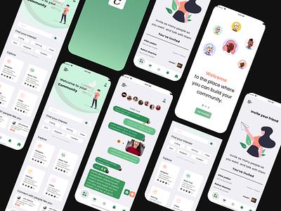 Community App apple social communicate communityapp community appdesigner appdesign uiux ux ui design ui