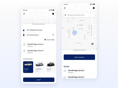 Cab service ui design uiuxdesign appdesign rental bookcar cabservice cab uidesign uitrends ui uiux