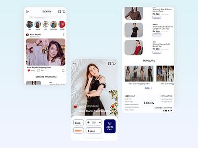 Shop while watching app ui  ux watch video dresses shoppingapp shopping cart shopping uidesign ui ui design appdesign uiux