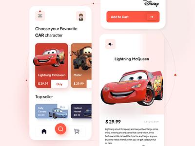 Cars toy shop illustration app design ui  ux uiuxdesign uidesign ui ui design appdesign uiux