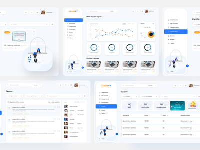 Learning Managment System (LMS) logo illustration design ui  ux uiuxdesign uidesign ui design ui appdesign uiux