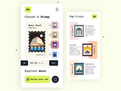 Stamp shop (Create or buy) innovative stampui ui  ux uiuxdesign uidesign ui design ui appdesign uiux