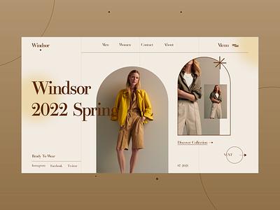 Fashion collection Web design fresh top minimal fashion ui design appdesign dribble uiux