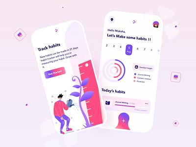 Habit Tracker ux conceptdesign inspiration new ui uidesign trending appdesign uiux