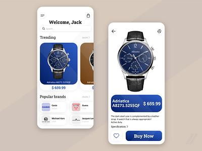 Watch Store Redesign rebound ux ui mobile design app