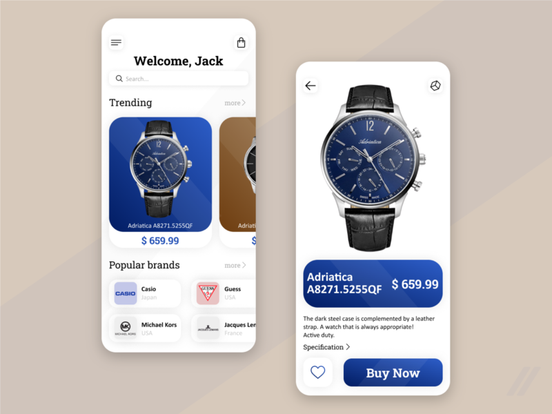 Watch Store Redesign rebound ux ui mobile design app