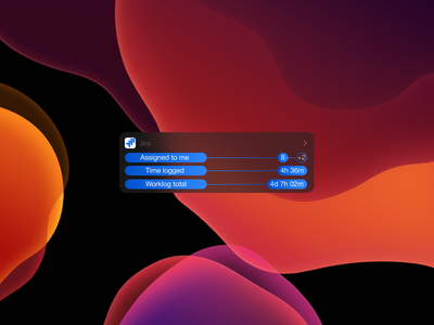 Jira widget dark concept illustration design ios widget jira ux ui mobile app