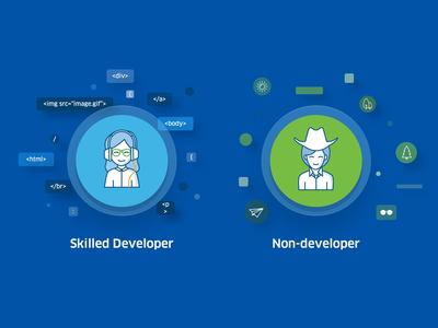 Developer vs Non-developer