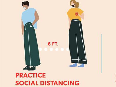 Social Distancing Signage (Poster) poster design sign signange illustration