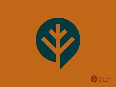 Opinion Grove opinion speech speech bubble tree grove illustration mark branding logo