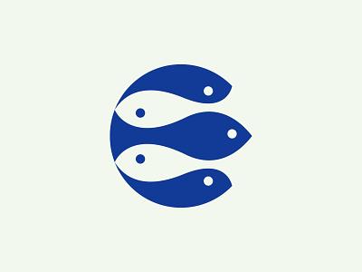 Aquarium logo aquarium fish illustration mark branding logo