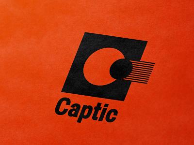 Captic camera objective light lens c icon monogram letter mark branding logo